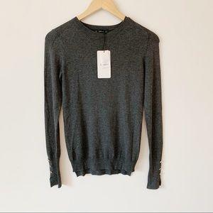 Zara Knit Long Sleeve Gray Sweater